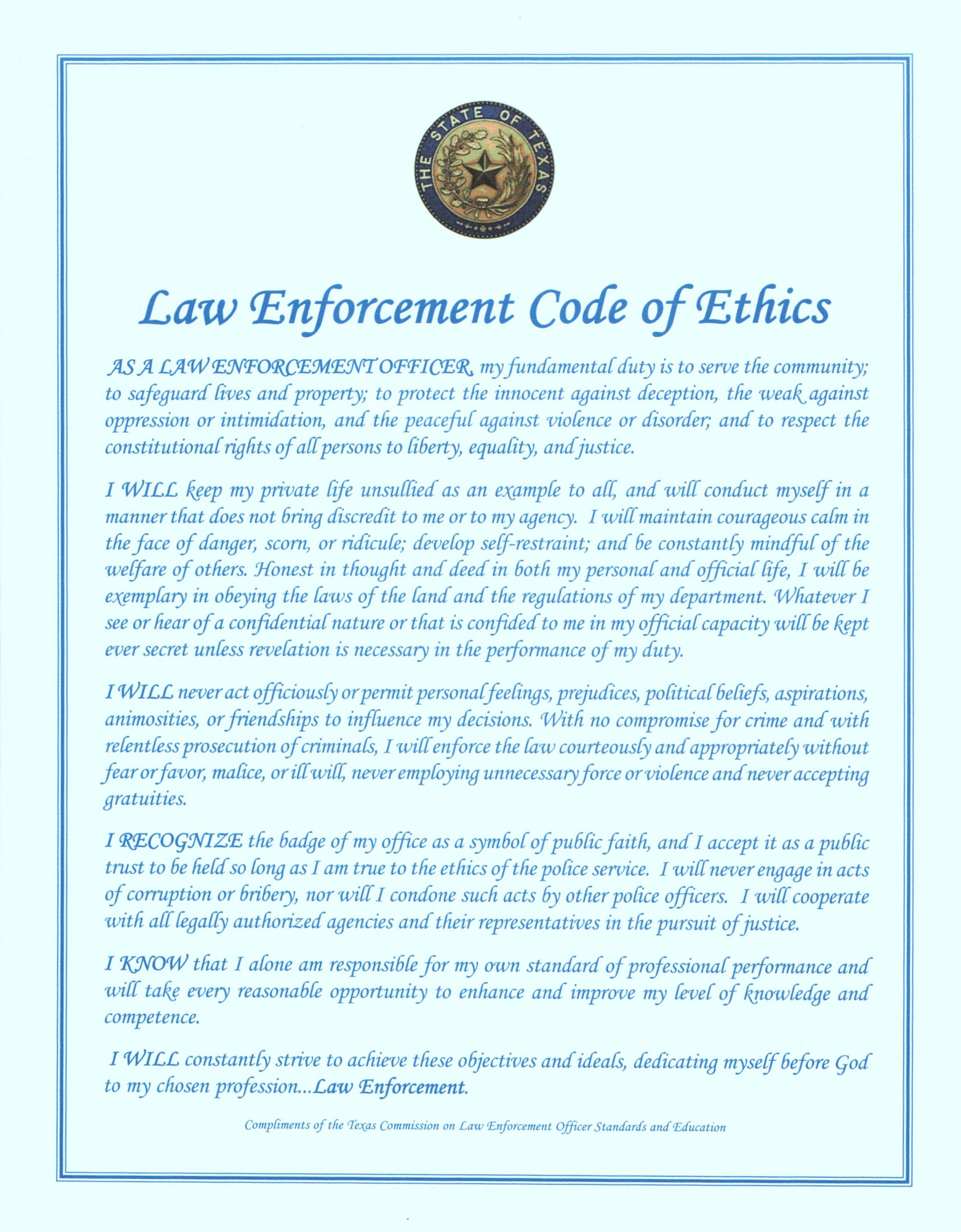 Retired Police Corporal Chris Grollnek And The Police Code Of Ethics Is Set Of Ground Rules And Ethos Is Vital To Retain Public Trust Police Code Coding Ethics