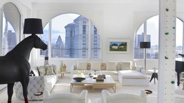 semirunde fenster vieretagen penthouse wohnung in new york, Innenarchitektur ideen