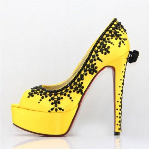 red bottom shoes yellow on hot sale