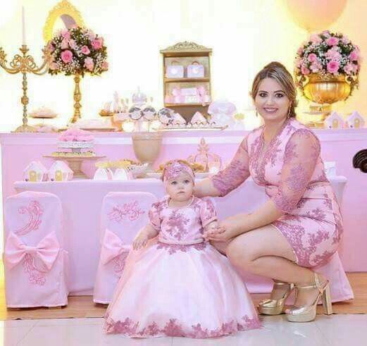 Niver Ana Julia Moda Mãe E Filha Vestido Mãe E Filha