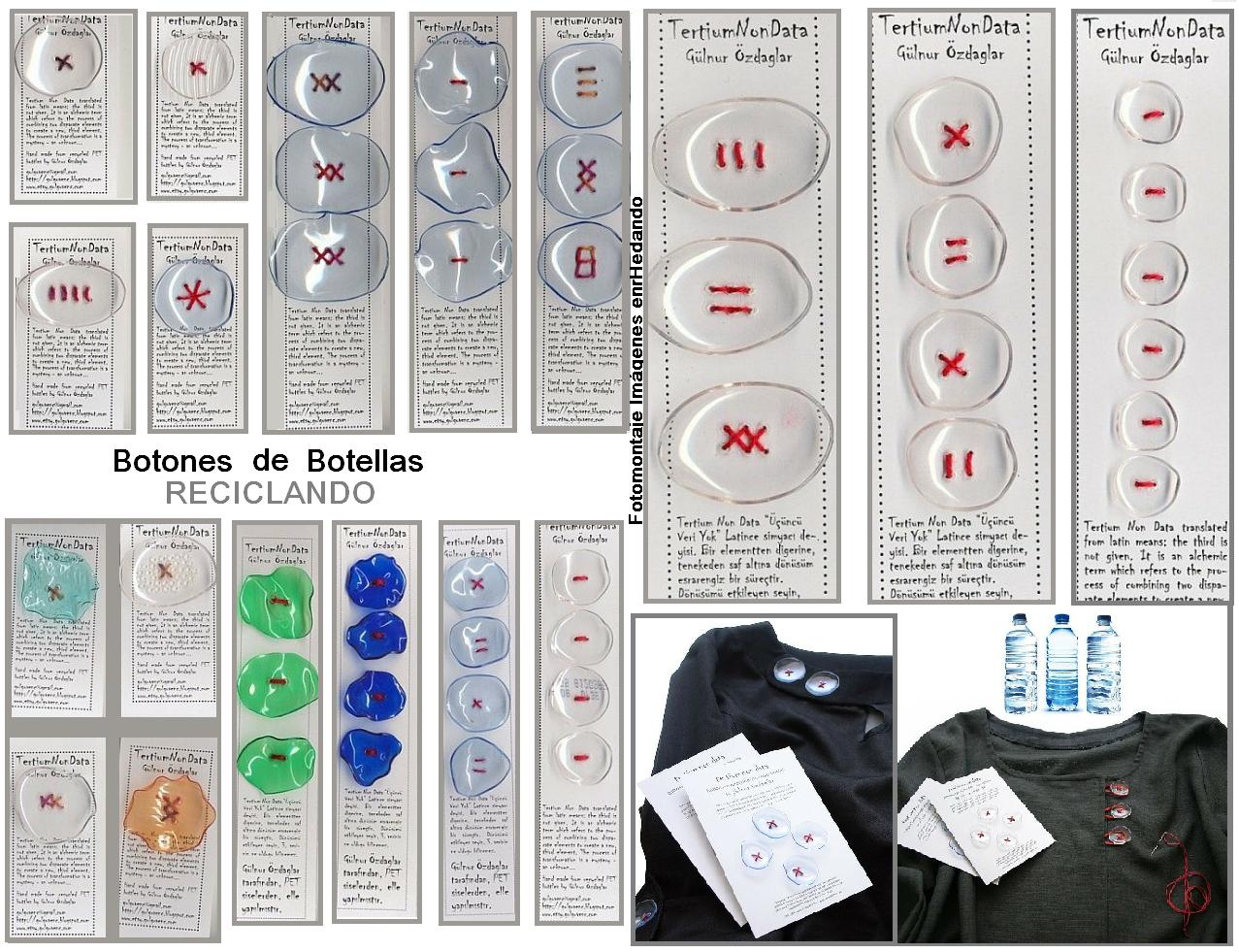 Botones de Trozos de Botellas de Plastico Como hacer Botones ...