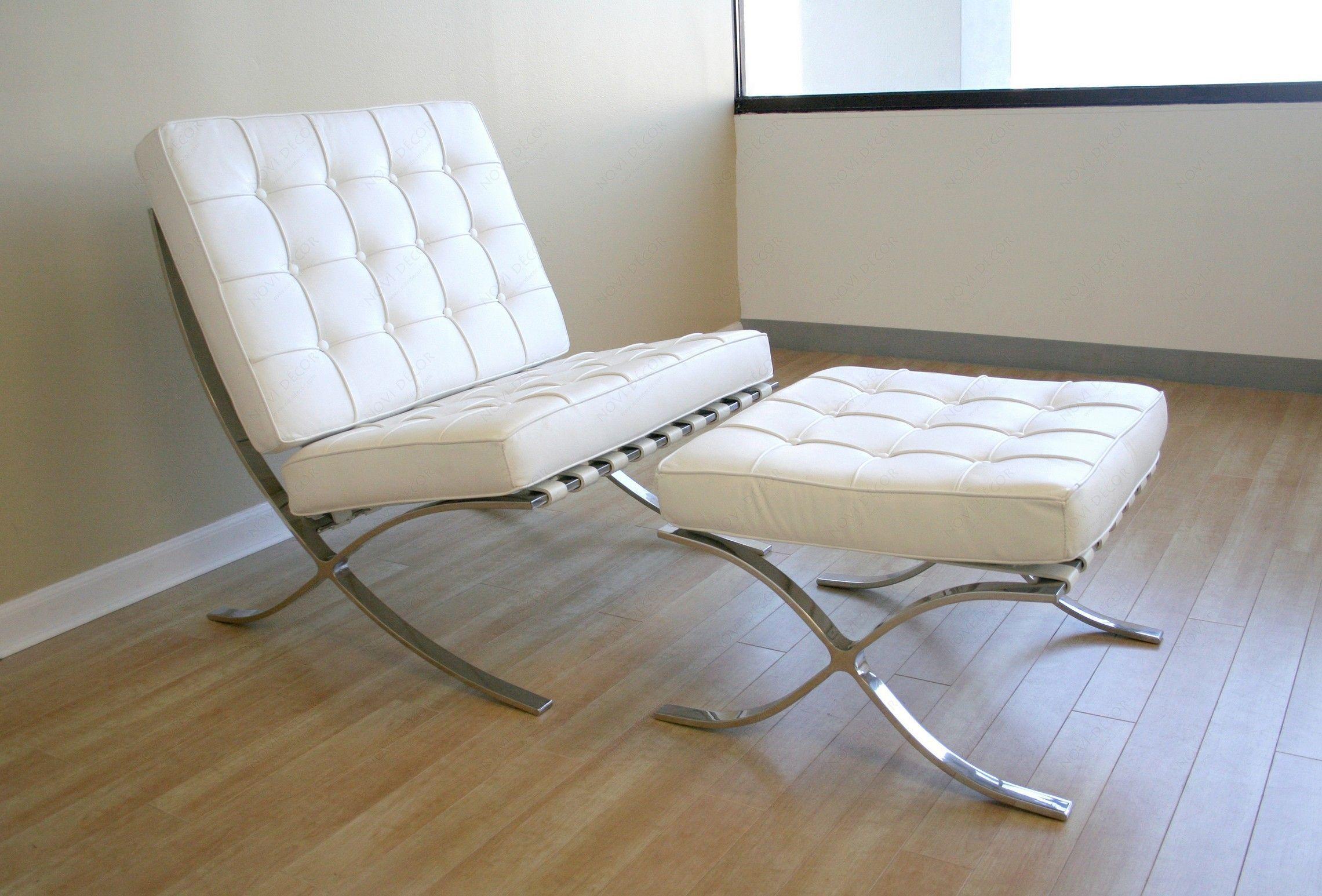 barcelona replica cream chair semi black style brown leather aniline