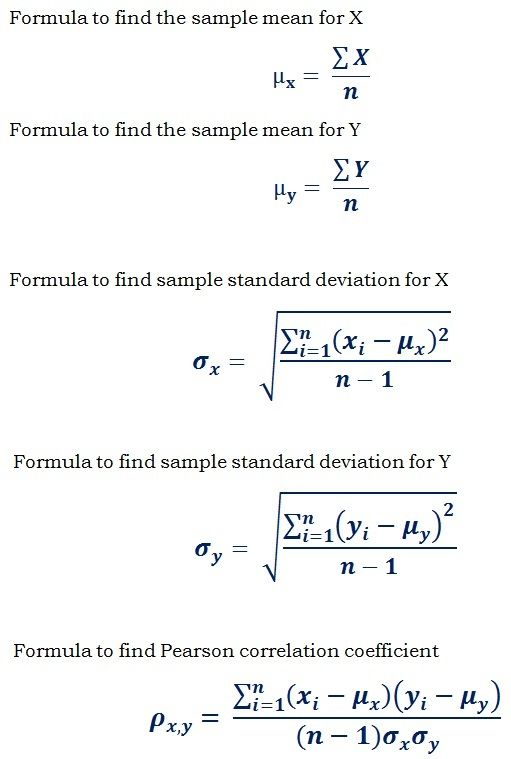 Correlation coefficient formula essay