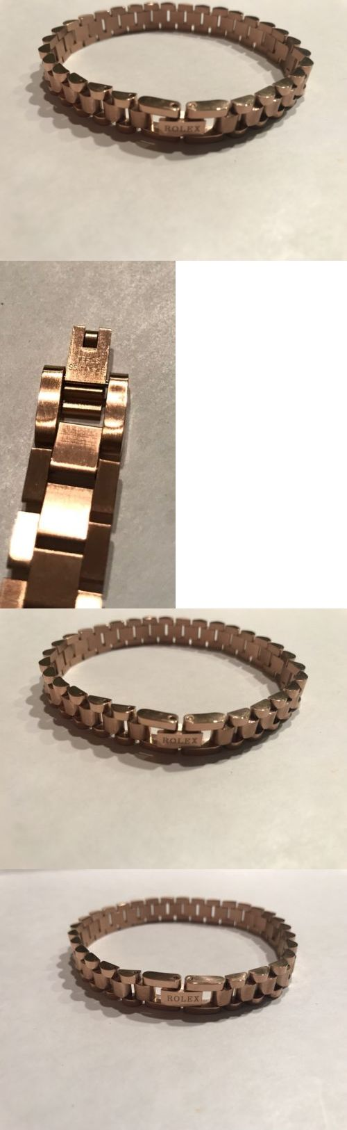 Rolex stainless steal rose gold plated unisex bracelet inc