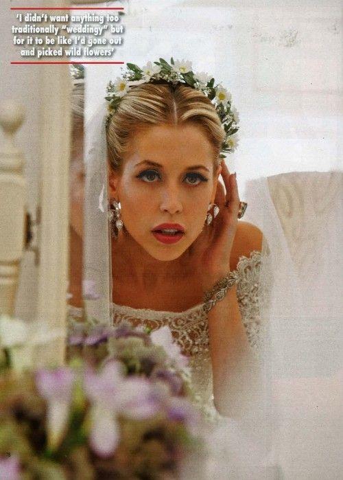 PEACHES GELDOF WEDDING Gorgeous Headpiece