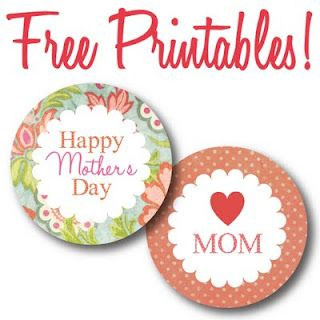 mothers day circle labels free printables by recipe holiday favorites. Black Bedroom Furniture Sets. Home Design Ideas