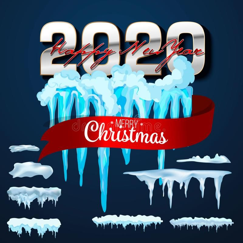 2020 Vector Collection Of Snow Caps Pile Icicles Isolated On Background Tran Sponsored Caps Pile Icicles Snow Vector Ad Snow Caps Snow Icicle