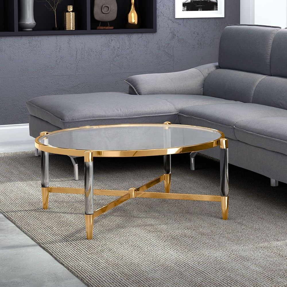 Glass And Gold A Classic Combination Wouldn T You Love To Own This Beauty Https Www Barcelona Designs Com Produc Coffee Table Table Lucite Coffee Tables [ 1000 x 1000 Pixel ]