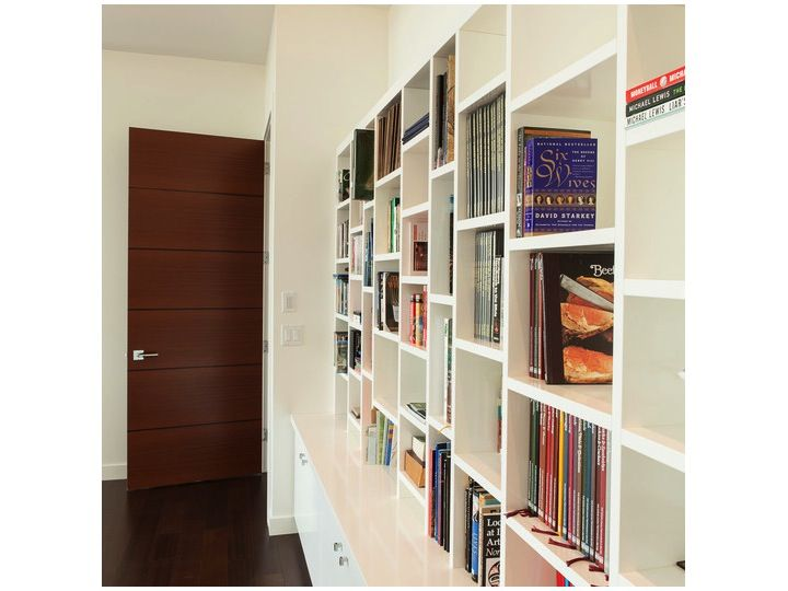 Open and closed shelving - den or living room?