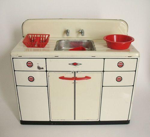 Vintage 1950 S Wolverine Metal Kitchen Sink With Accessories