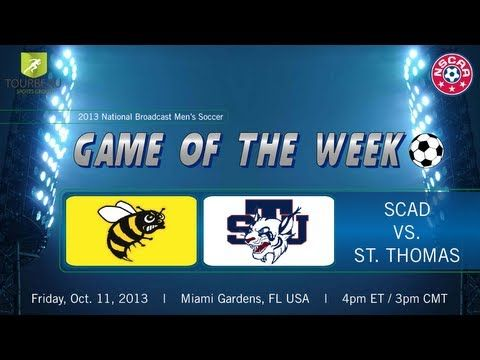 SCAD Savannah at St. Thomas (FL)- NAIA Men's Soccer- Friday, October 11 ... SCAD win 2 - 1  http://1502983.talkfusion.com/product/