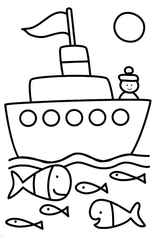 Coloriage 3 ans coloring pages coloriage bateau coloriage et coloriage 3 ans - Dessin bateau enfant ...
