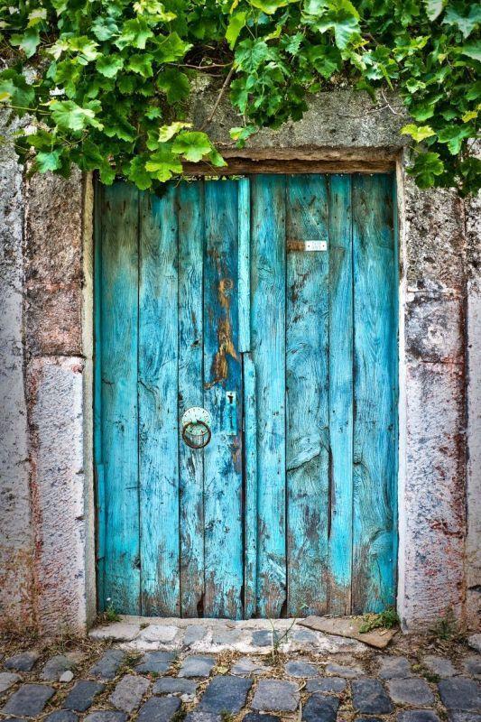 Vintage Vieux Photographie Porte Bleue Par Delphimages Sur Etsy Vieilles Portes En Bois Portes Rustiques Portes Vintage
