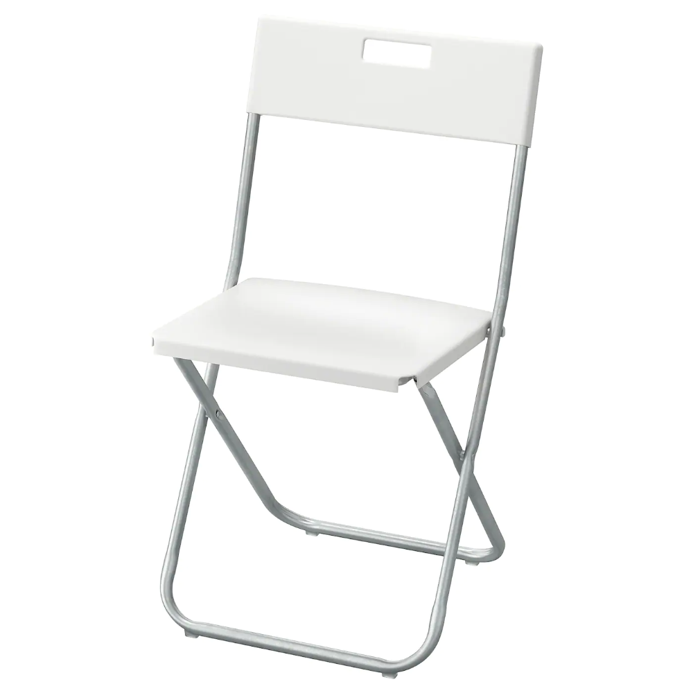 Gunde Folding Chair White Ikea In 2020 Folding Chair Chair Ikea Dining Chair