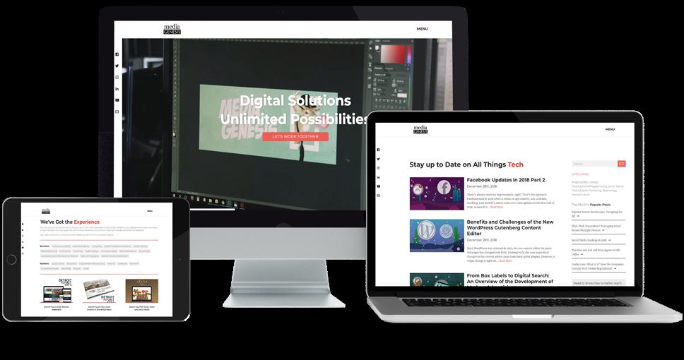 Responsive Website Design Tester Media Genesis In 2020 Responsive Website Design Website Design Responsive Site