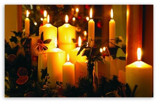 Download Christmas Candles HD Wallpaper (With images