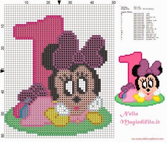 Dinha Ponto Cruz: Minnie Ponto cruz   Toalhas   Pinterest   Minnie ...