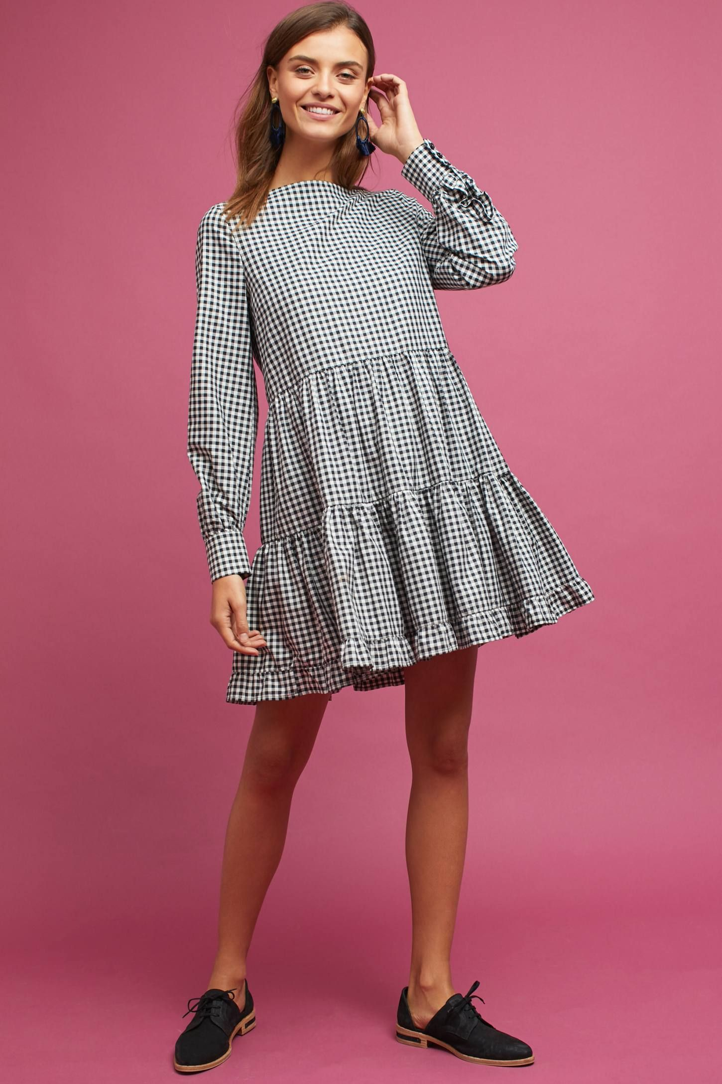 Tiered Gingham Dress #ad #AnthroFave #AnthroRegistry Anthropologie ...