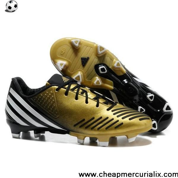 buy online 09a9e bf337 Best Gift adidas Predator LZ TRX FG Golden Black White Football Boots Shop