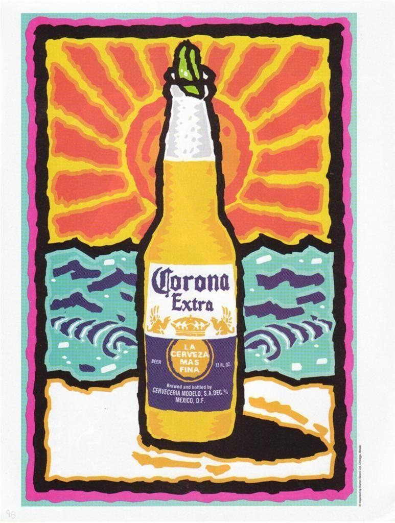 1998 Corona Extra Beer Magazine Ad. Beautiful Artwork