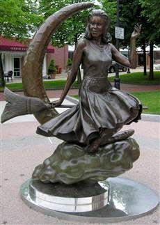 Image result for bewitched statue salem