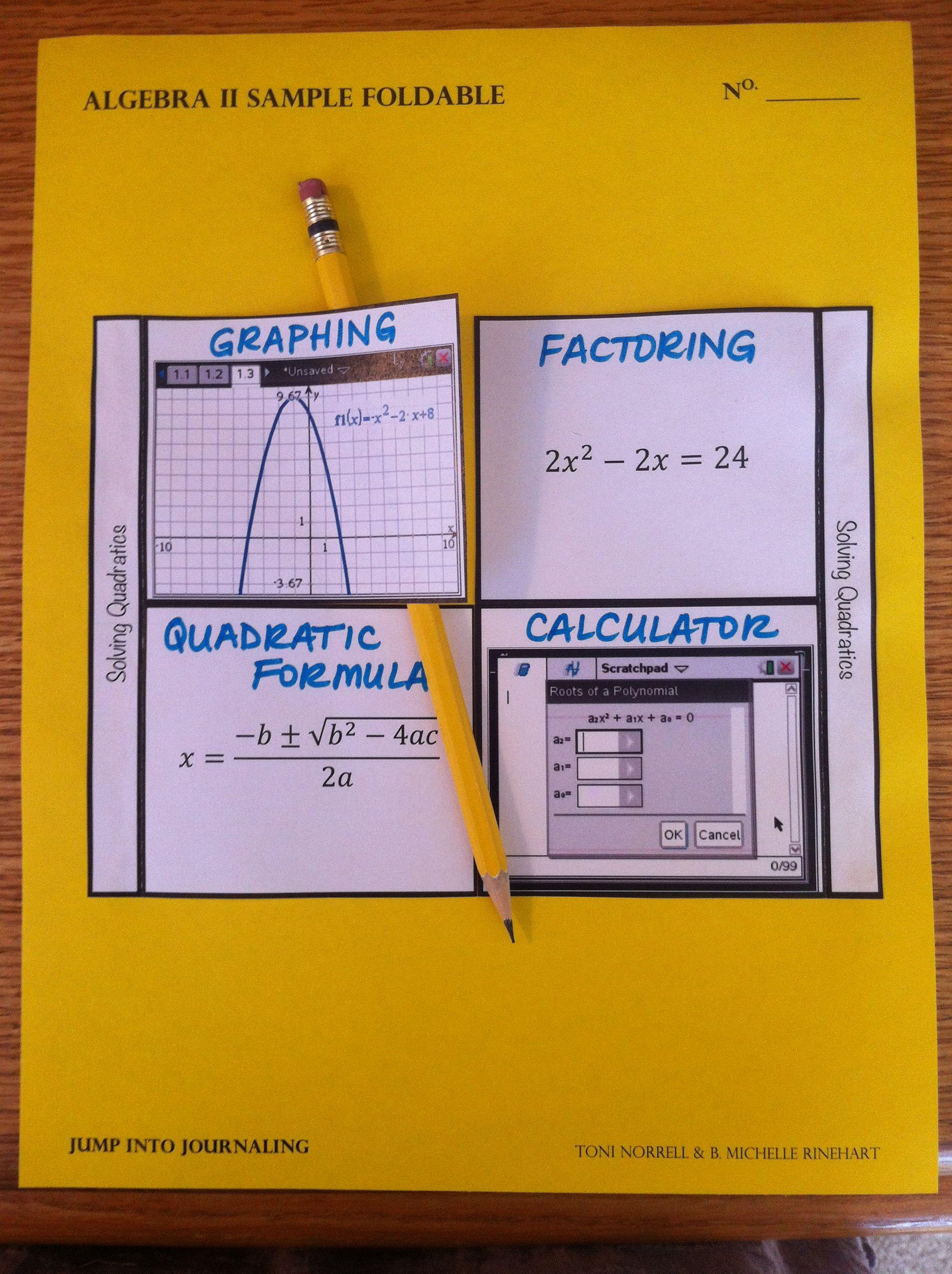 Solving Quadratics Using Multiple Representations And Ti