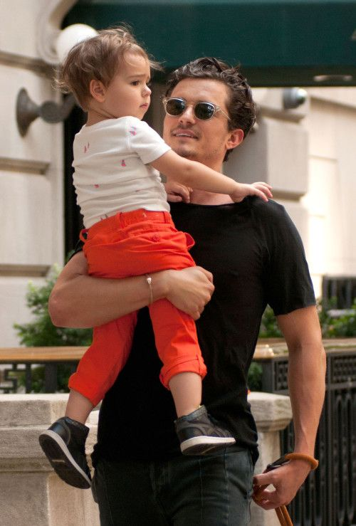 Orlando Bloom and his lil man....Too Cute!