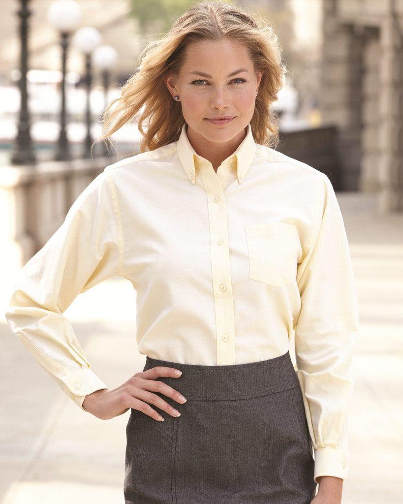 87f45a70ac1 Van Heusen Women s Cotton Blend Oxford Dress Shirt 13V0002