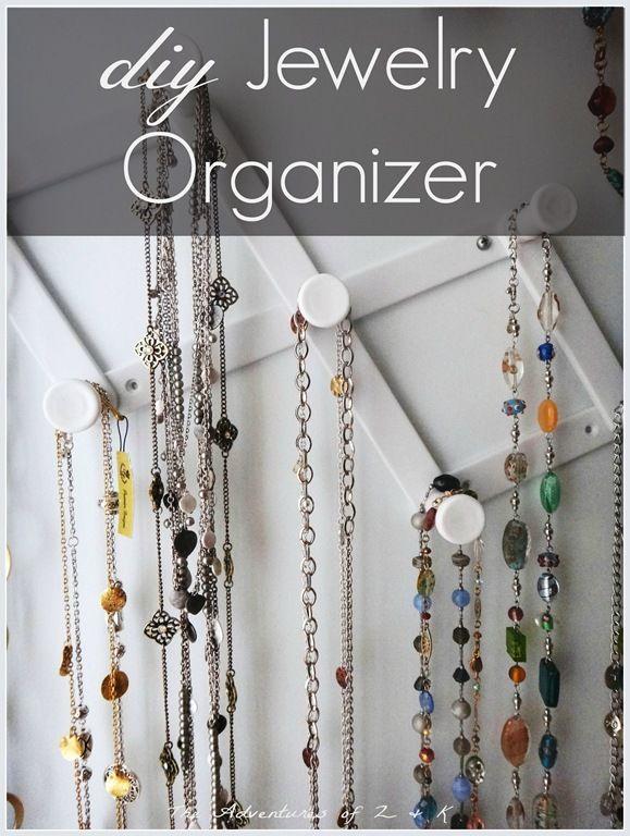 jewelry organizer Jewelry Storage Pinterest Diy jewelry