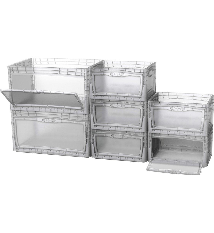 Eurobox System Tauro Box Flap Side 40 X 30 X 22 Cm Transparent