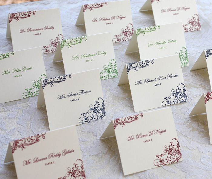 Wedding Reception Escort Cards by invitations by ajalon ...