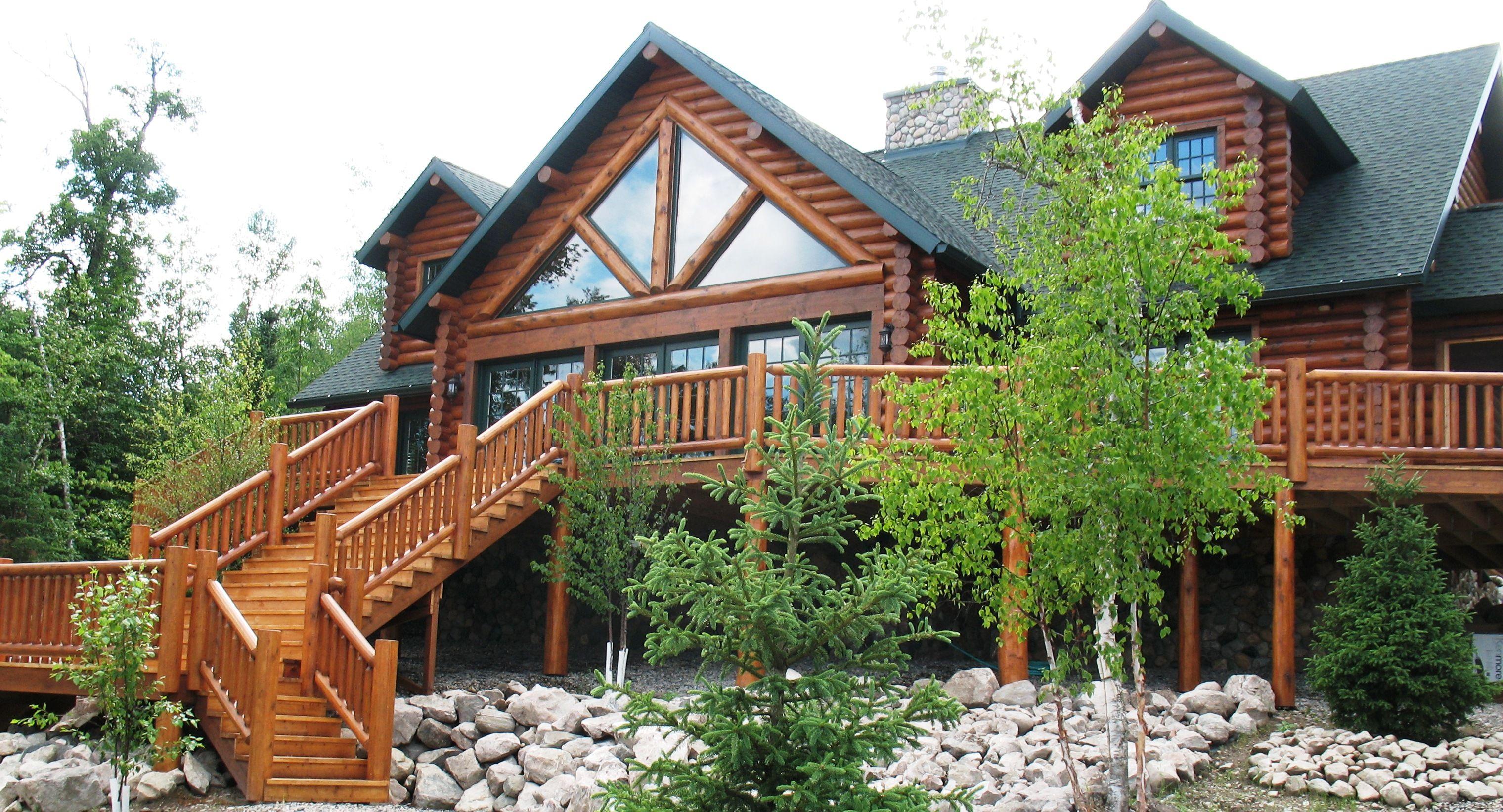 Lake Vermilion Log Home Log Cabin Living Log Homes Log Home Living