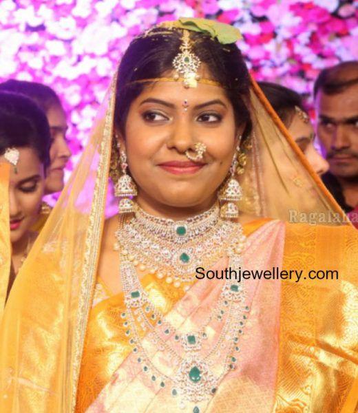 Shyam Prasad Reddy Daughter Maithris Wedding Jewellery Photo