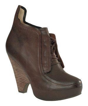 Look at this #zulilyfind! Dark Brown Nora Leather Bootie by Maxstudio.com #zulilyfinds