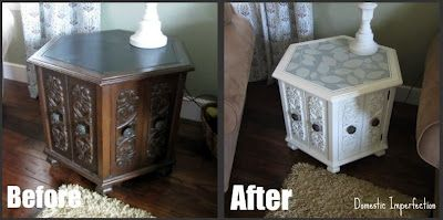 Upcycled End Table Or Any Other Furniture From Thrift Stores To The  Garbage. Before It Was Old Looking, Very Drab. Now It Is Stylish   Like Off  The Show ...