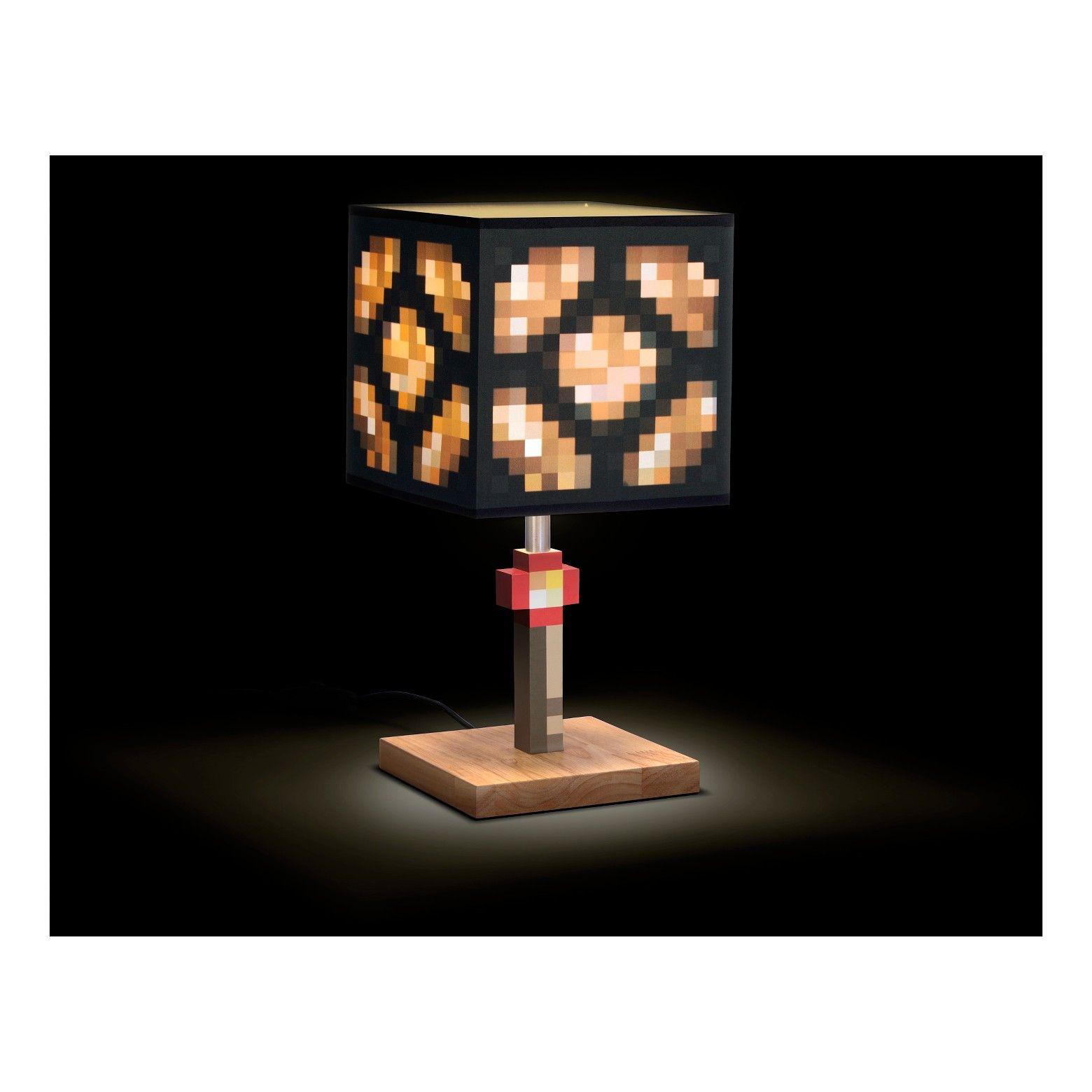 Minecraft Glowstone Table Lamp Minecraft Bedroom Decor Minecraft Bedroom Minecraft Room Decor