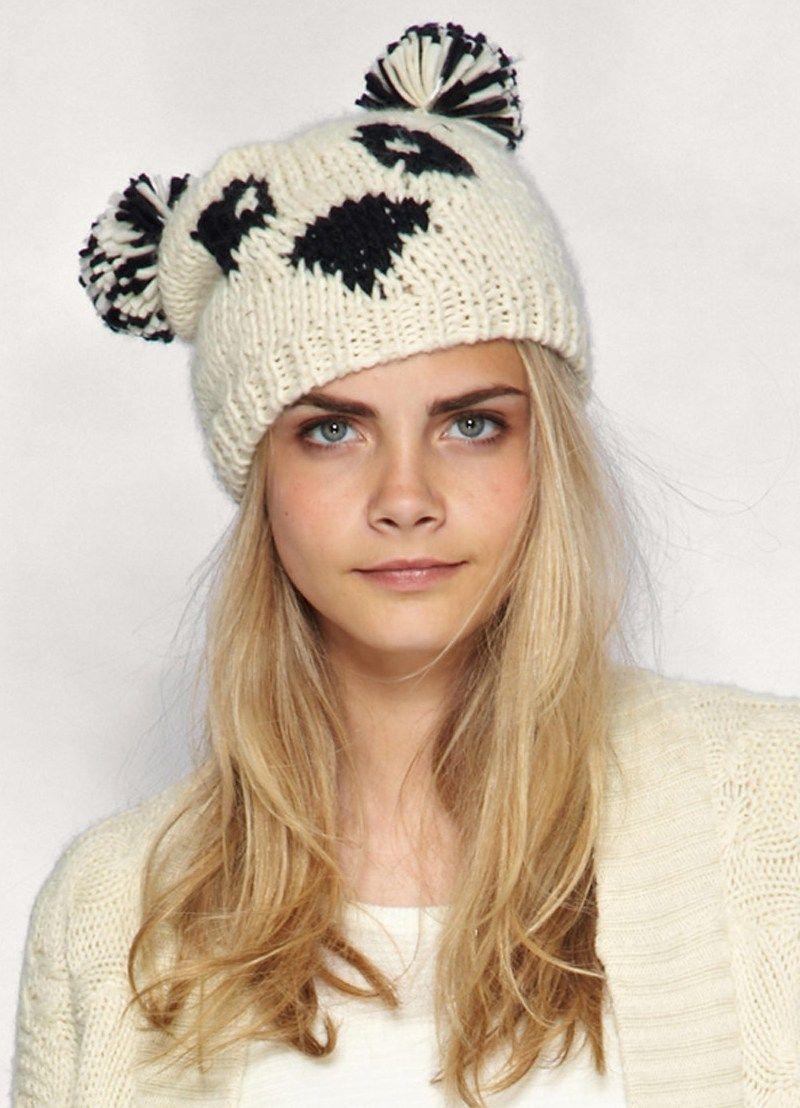 вязаная женская шапка схема