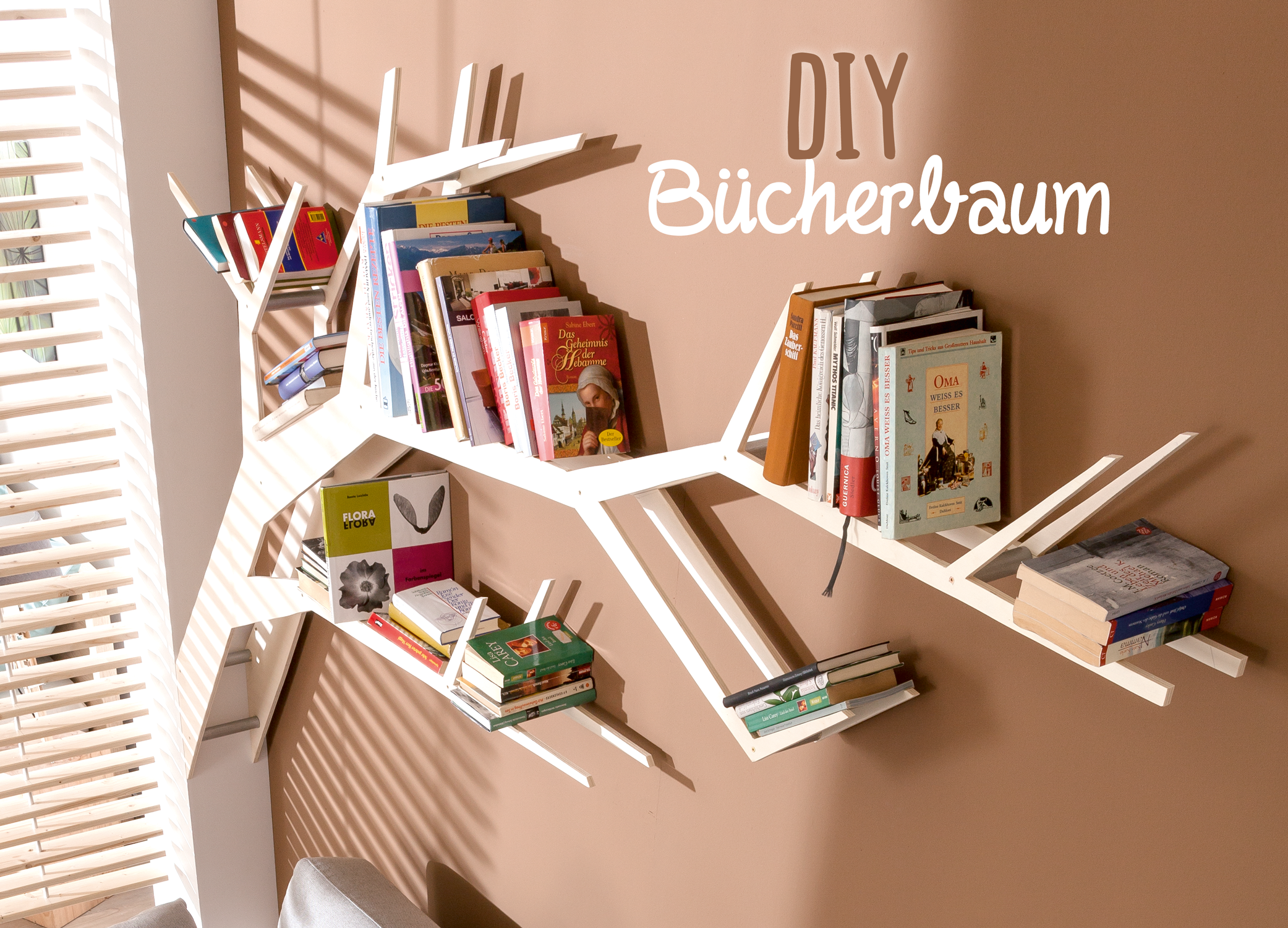 Photo of This DIY book tree shelf is a real eye-catcher. The instructions are …