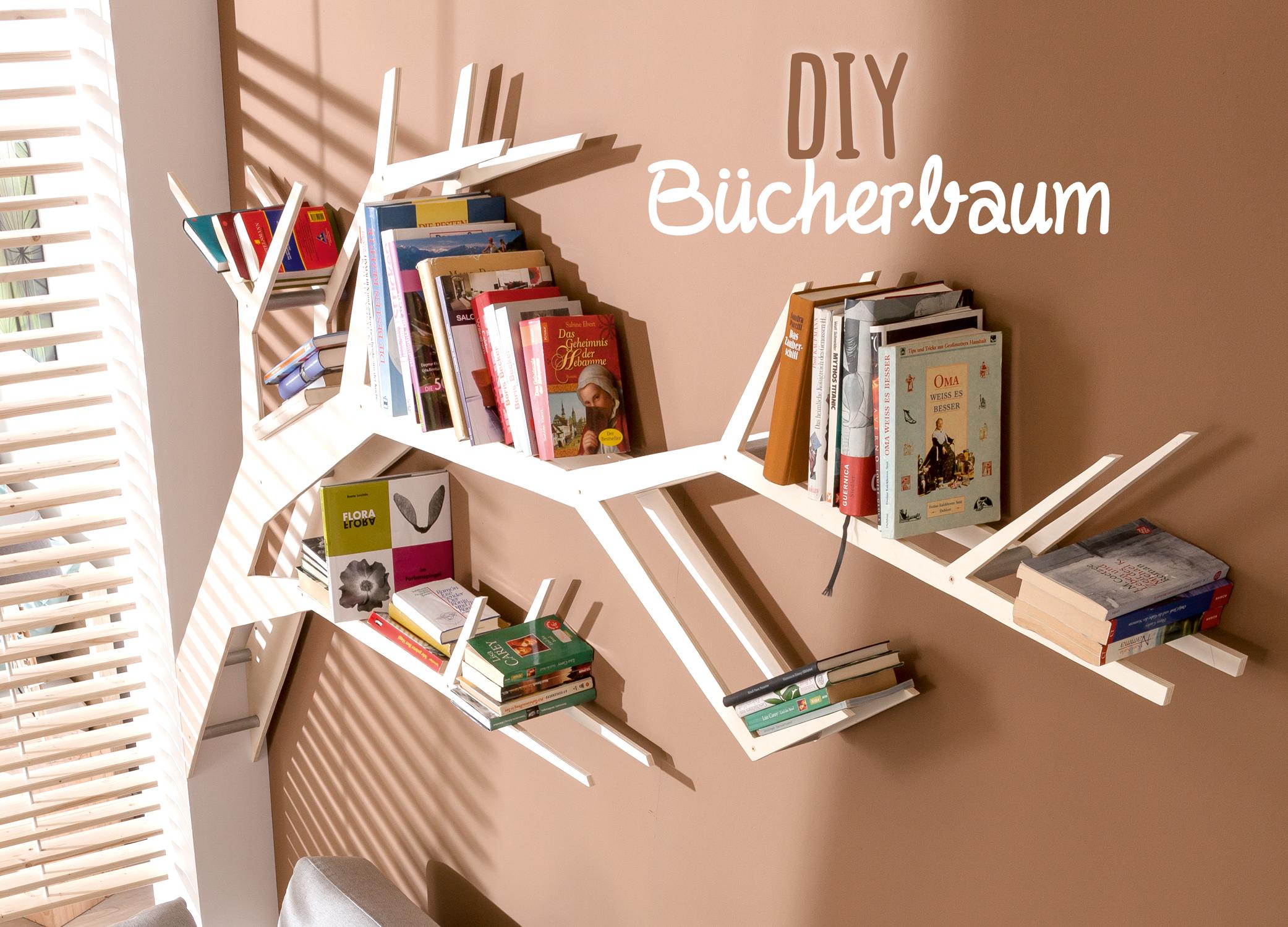 Dieses DIY Bücherbaum Regal Ist Ein Richtiger Blickfang. Die Anleitung  Findet Ihr In Unserem