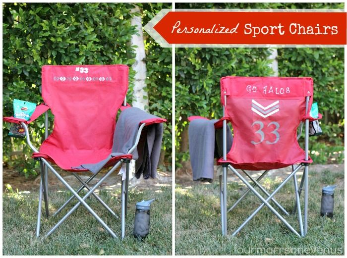 personalized folding chair modern leather dining chairs australia sport crafts diy sports mom teams presents