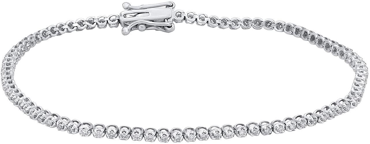 1 2 Carat Natural Diamond Bracelet 10k White Gold M N Color I1 I2 Clarity Diamond Tennis Bracele In 2020 Diamond Jewelry Gifts Tennis Bracelet Diamond Women Diamond