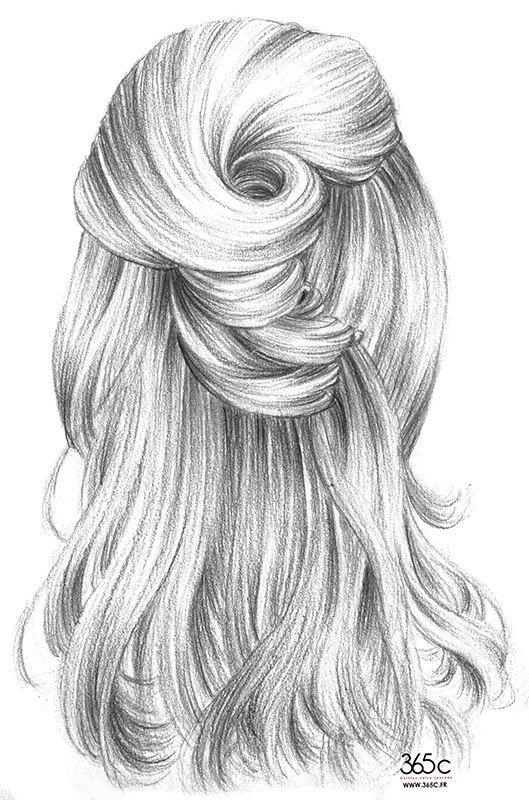 Картинки волосы нарисованные красивые