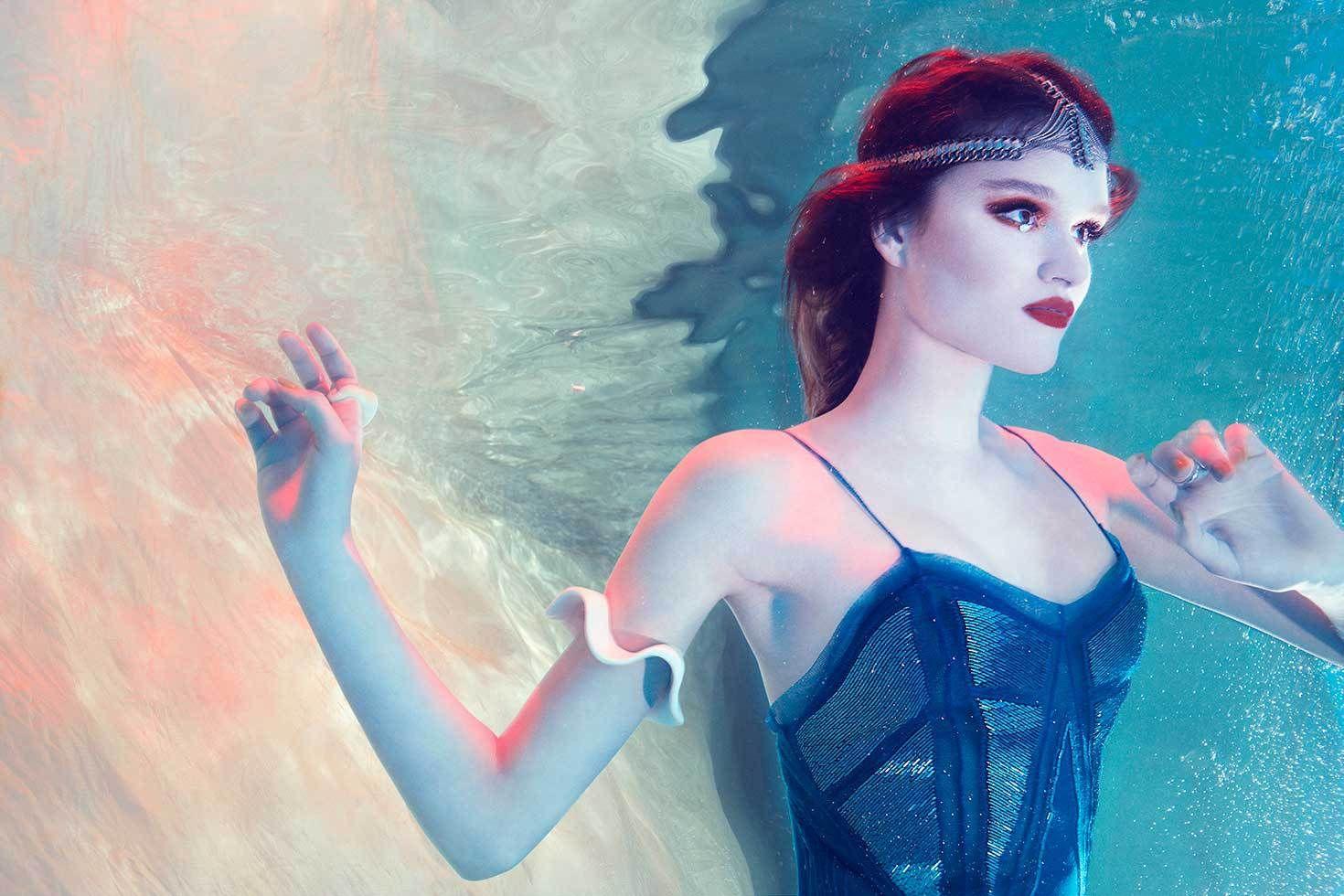 suspended | Underwater model, Underwater photography