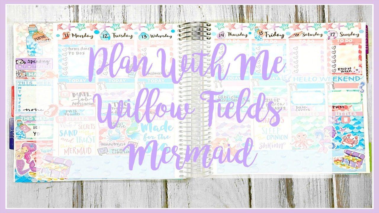 Plan With Me // Willow Fields Mermaid // Erin Condren