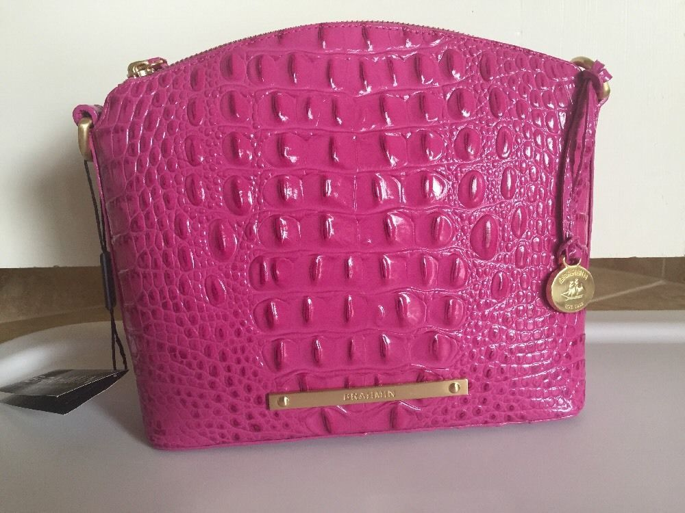 Brahmin Mini Duxbury Crossbody Dahlia Pink Melbourne Leather K50151DH | eBay