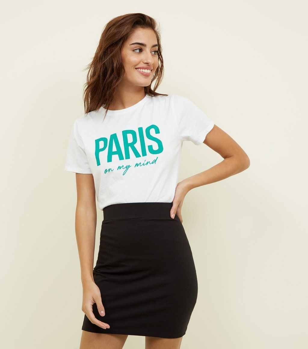 999a4f4be Black Cotton Mix Mini Tube Skirt in 2019 | Party fashion | Tube ...