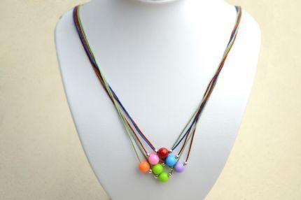 Diy Necklace Ideas How to Make a String Bead Necklace Diy