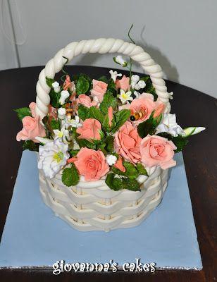Giovanna S Cakes Flower Basket Cake Flower Basket Cake Cake Basket Weave Cake