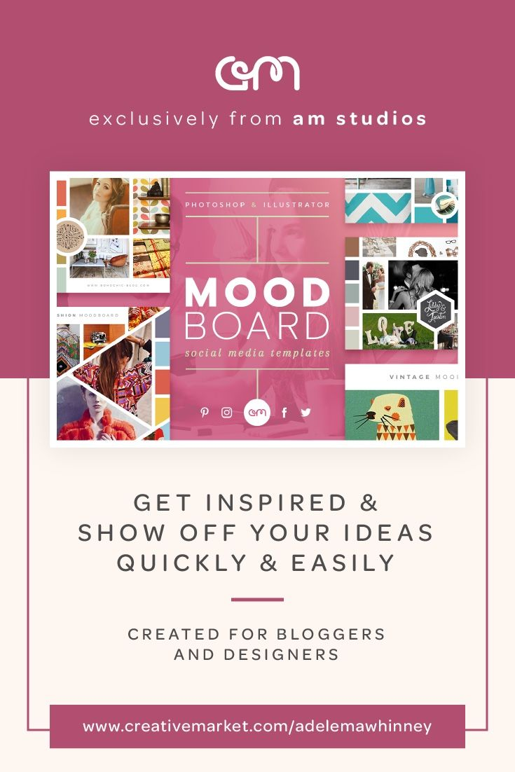 Mood Boards / Stile tile / Social media templates / Easy to customize /  Ready sized