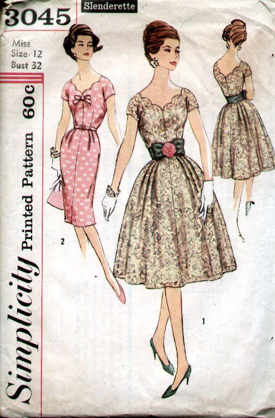 Simplicity 3045 | Vintage patterns, Vintage sewing patterns and ...
